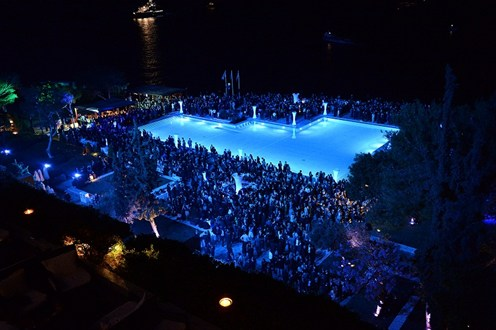 Posidonia Pool Night Photo For News
